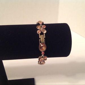 Napier Gold Tone Clasp Bracelet